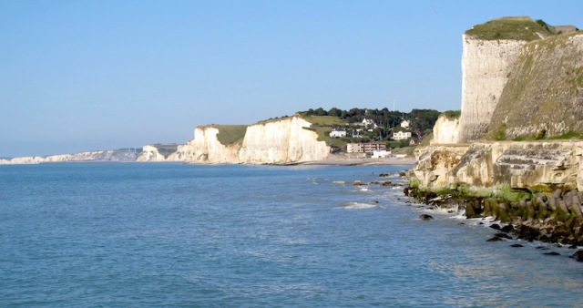 Chalk cliffs near Dieppe, part of the Alabaster Coast.