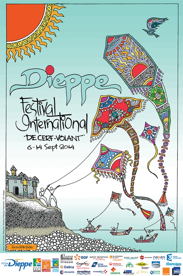 Another eye catching poster in Dieppe advertising the Dieppe International Kite Festival. I know little about the festival but I include the image simply because I admire the artwork.