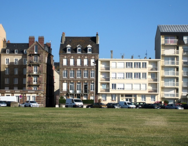 This row of buildings faces the Dieppe beach where the Canadians landed in 1942.