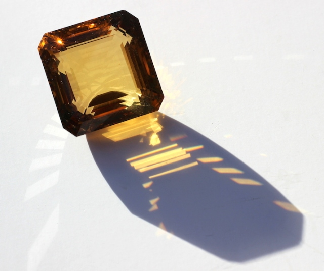 Natural citrine. I have never had the piece tested for quality so I'm hoping it isn't synthetic.