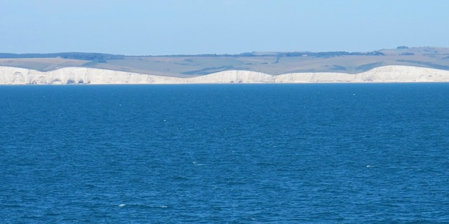 Hello England. A section of the Seven Sisters, a series of chalk cliffs in East Sussex coast along the English Channel.