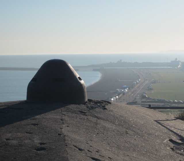 German hilltop observation dome overlooking the salt laden air of the Dieppe main beach. The dome was cast steel approximately 300mm thick, not easy to knock out.
