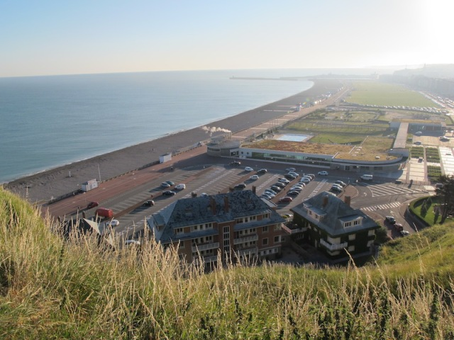 2015 image of Dieppe beachfront from the same vantage point as the previous images.