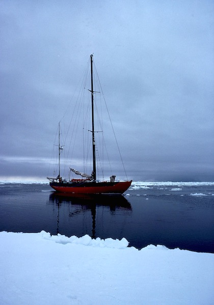 Solo, 'The lady of the sea', the yacht on which Ted sailed to the Antarctic.