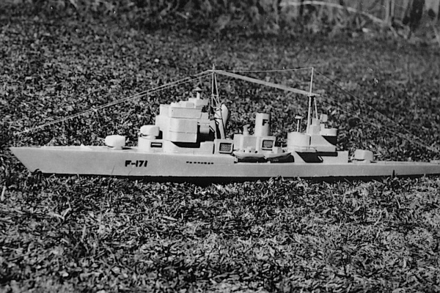 Frigate F171. I think I was about thirteen when I made this one.