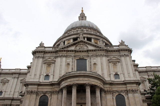 St Pauls Cathedral. The ball, cross and lantern on top of the dome weighs seven hundred and seventy seven tonnes.