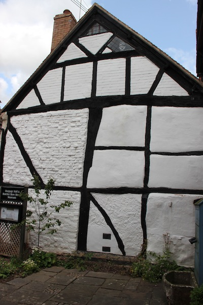 A box frame house on the corner of Church Street Ledbury.