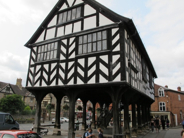 Market House Ledbury, a fine example of a boxed frame construction.
