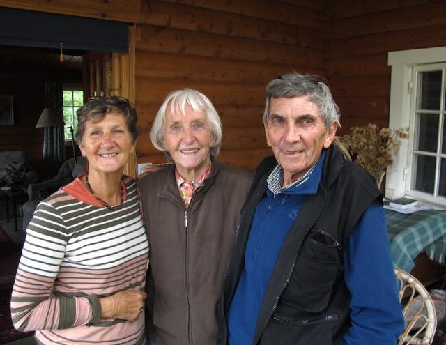 With our dear friend Elisabeth.