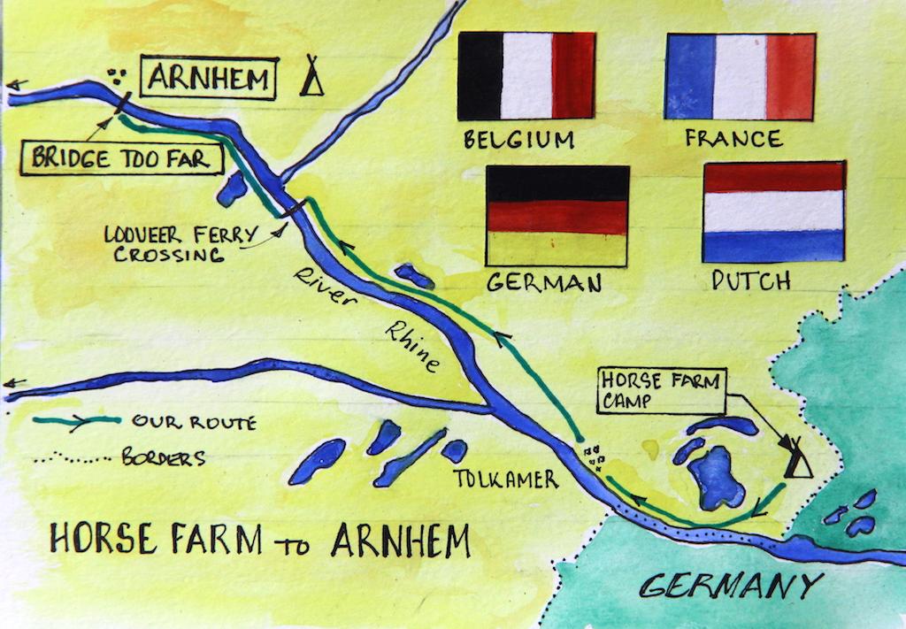 1 Map Tolkamer to Arnhem