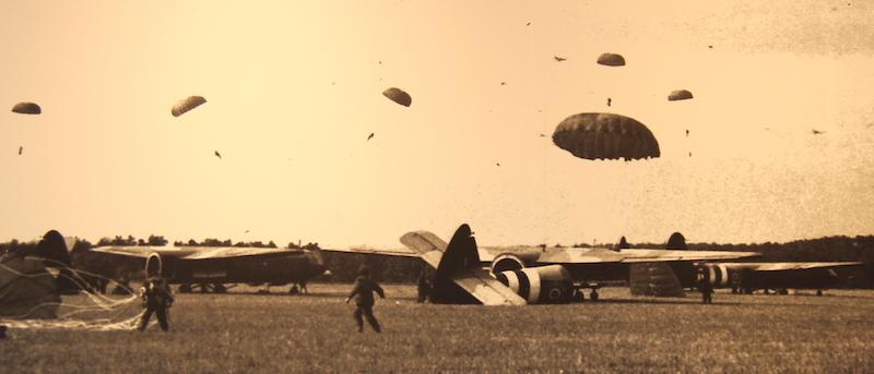 14 WW2 parachute drop