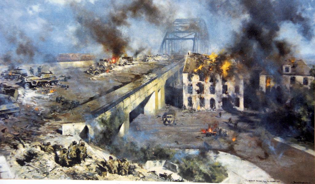 17 Painting David Shepherd Battle for Arnhem Bridge