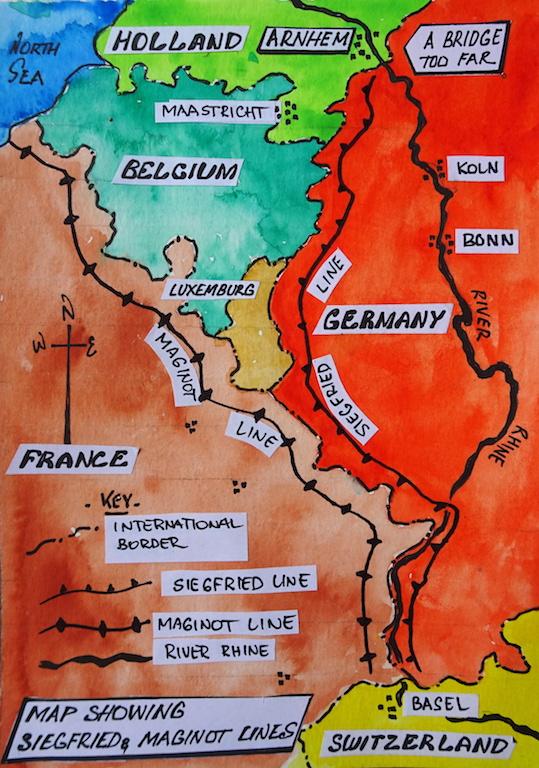 5 map Siegfried line
